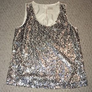 Kate Spade Silk Sequin Top  Women's Large